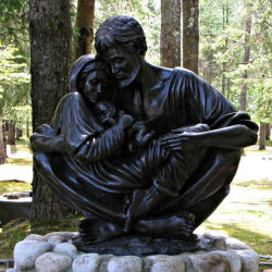 Décoration de la taille de la vie de plein air en bronze de la cire perdue la statue de Jésus Christ de sans-abri