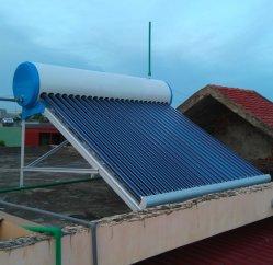 nicht druckbelüfteter Gefäß-Solarwarmwasserbereiter des Vakuum100,150,200,250,300l mit Aluminiumlegierung-Halter u. der 0.4mm Stärke des weißen angestrichenen äußeren Stahlbeckens (Standard)