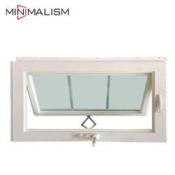 Weißes Markisen-Fenster der Farben-Aluminium/PVC/UPVC geöffnet nach aussen mit Gitter-Entwurf für Bauvorhaben