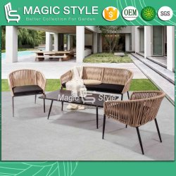 Sofá de jardín de tejido de vendaje con cinta Water-Proof Cojín de sofá Muebles exteriores muebles interiores