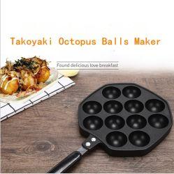 أداة الطهي أدوات الطهي الخاصة بتعليمات الطهي من قبل مشغلي المطابخ 12 حفرة صانع كرات تاكيواكاكي أوكتوبوس قلي مقلاة غير Stick Octopus Bans