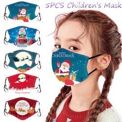 Упаковка пригодна для стирки и подсети детей Рождество респиратор для печати регулируемый Ear-Hanging респиратор Дышащий Пыленепроницаемость респиратор