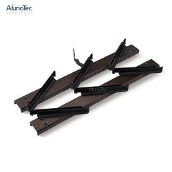 La rejilla de ventilación de persianas de aluminio de piezas del bastidor 6 Hojas Bastidor del Louvre