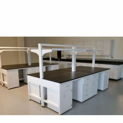 Biológicas de acero y madera Mobiliario de laboratorio con la parte superior de la guantera, en la escuela La Escuela de acero y madera banqueta Laboratorio/.