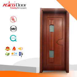 Extérieur en bois solide/Porte d'entrée de porte en bois avec décoration