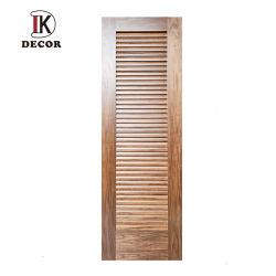 스테인드 오크/아메리칸 월넛 베니어 옷장 문 디자인 목재 루버 도어 루브르 옷장 문