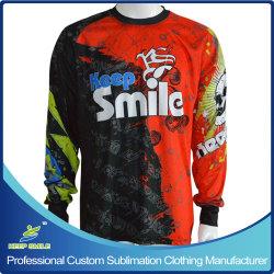 Custom sublimé Sublimation Sports Jerseys de moto à manchon long
