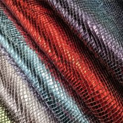 La dorure Peau de serpent PU Microfibre en simili-cuir synthétique