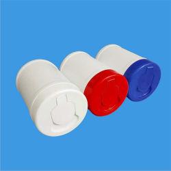 15 Anos PP Embalagem Fabricante Balde de hidromassagem garrafas de plástico da tampa articulada da Caçamba Toalhetes do Canhão