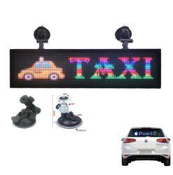 WiFi/USB pleine couleur intérieure de commande de déplacement Message signe à LED de voiture