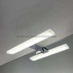 크롬 이탈리아 스타일의 LED 조명이 켜져 있는 방수 스테인리스 스틸 욕실 장식용 220V/110V 7W 욕실 가구/배니티/캐비닛 IP44용 프론트 미러 조명