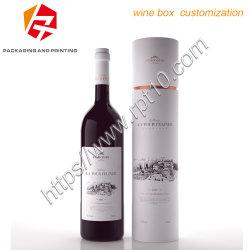Eleganter verpackenkasten-Luxuxdrucken-Pappbehälter-Wein-Zylinder-Behälter