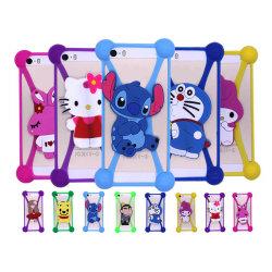 Hello Kitty Bear Monkey Mickey Cat Duck Cuete Téléphone Animaux 3D en silicone pour iPhone Samsung Huawei mobile Sony de couvrir les cas de téléphone cellulaire