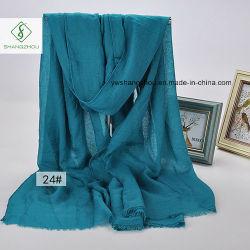 Tr coton châle ordinaire avec Fringe Lady Fashion foulard Factory