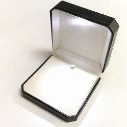 De LEIDENE Lichte Doos van Juwelen voor de Verpakking van de Halsband van de Oorring van de Tegenhanger van de Ring