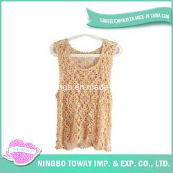 Señora Knitting Vest-04 de los Suéteres de la Alta Calidad del Ganchillo de la Mano