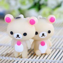 Disque USB cadeau promotionnel Cartoon Cute Bear Pendrive en caoutchouc