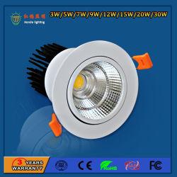 Haute puissance 90lm/W 9W Spot LED pour les hôtels de feux