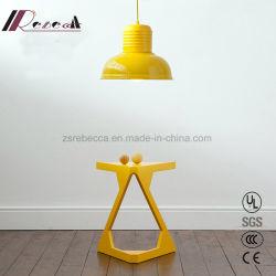 Fil de métal jaune individuel réglable Poignée de commande lampe pour le café & Home