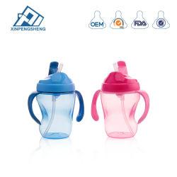 Großhandelstrinkendes Plastikcup mit Griff-Baby-Trainings-Trinkwasser-Cup