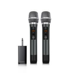 Shidu U20 двойные беспроводной микрофон Hand-Held с видимым частоты точки