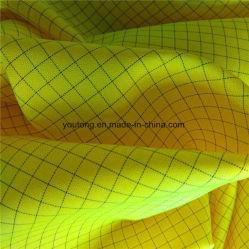 100% de poliéster Sarjado Plaid condutiva tecido Oxford