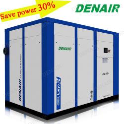 D'énergie industrielle de l'enregistrement unique/d'alimentation CA en deux étapes de l'huile stationnaire électrique moins entraîné directement/fabricants de compresseurs à vis d'accouplement de l'air