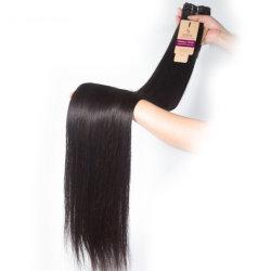 10Aペルーのバージンの毛のまっすぐな人間の毛髪の織り方は100つの自然なRemyの人間の毛髪の拡張を卸しで束ねる