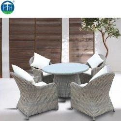 Outdoor Rattan Esstisch Stuhl Gartenmöbel Set
