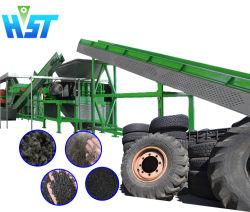 machine de recyclage des pneus de déchets de l'équipement de déchiquetage des pneus de la machine la ligne de production de concasseurs de pneus en caoutchouc de la machine de meulage de la Miette