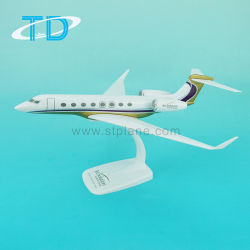 Jetsolution G650 30cmのプラスチック航空機1/100の平らなモデル