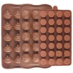 Kuchen formt Smiley Silikon-Süßigkeit-Backen-Schokoladen-Formen