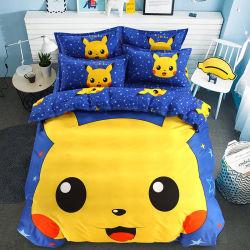 Los dibujos animados 3D de 4 PCS Conjunto de ropa de cama Ropa de cama de impresión Sábana Edredón fundas de almohada juegos de niños Niños ropa de cama Ropa de cama