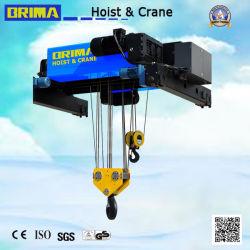30/10tonne Angleterre Type européen sur le fil électrique poutre double palan à câble Crane