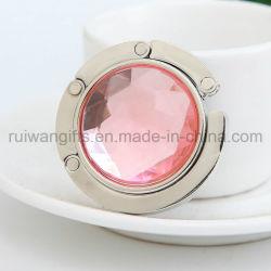 Faltbare Metallbeutel-Aufhängung mit Diamant-Stein