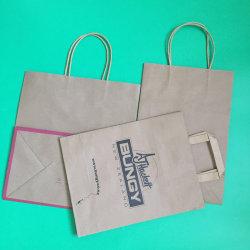 Les sacs en papier kraft avec Poignée Torsadée