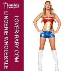 Sexy costume de super-héros femme S-XXL (L1481)