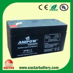 Rehchargeable AGM Battery UPS Battery 12V1.3ah Lead Acid Electrical Battery