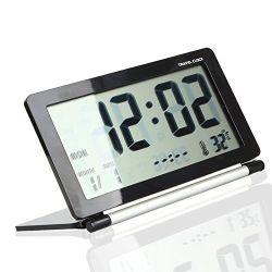 Pochette de voyage numérique Ultra-Slim repliage de la table de bureau multifonction réveil avec une date d'affichage de température