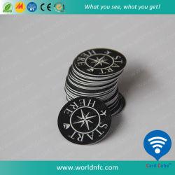 125kHz Em4100/Em4102/Em4305チップが付いている小さいカスタマイズされたサイズのABS PVC RFID硬貨の札