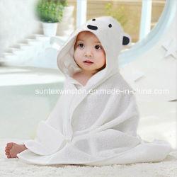 耳を搭載する100%Cotton/タケ赤ん坊のフード付きタオル