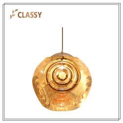 Ronda moderno de Aço Inoxidável esfera metálica Lâmpada Pendente