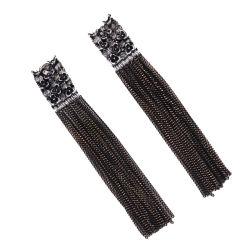 Fashion Designs Rhinestone Metal glands Zircon Earring femmes bijoux de perles