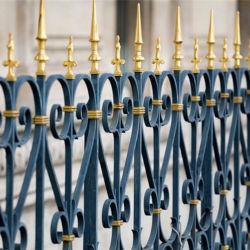 Haute dureté à l'aide de clôture en fer forgé avec couleur noir