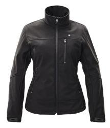 卸し売りカスタム防水電池レディース黒の熱くするSoftshellのジャケット