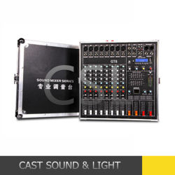 アンプが付いている8CH 500W*2によって動力を与えられる可聴周波DJのミキサー