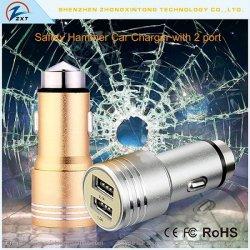Glasbruch Aluminiumdoppel-USB-Auto-Aufladeeinheit 5V 2.4A