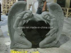 Угол в форме сердечка черного гранита Headstone Tombstone// Momument камня