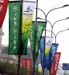 De Banners van de Vlag van de Reclame van de Straat van de Polyester van het Af:drukken van de Sublimatie van de Kleurstof van de douane