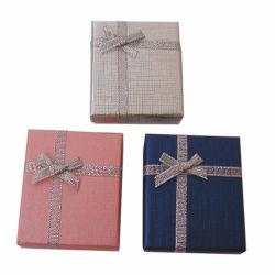 7*8*2.5cm Couleur Argent Bijoux bague collier boucles ensembles boîte boîtes cadeaux Emballage